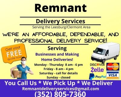 You Stay Home and We Will Pick-Up and Deliver! (Leesburg / Clermont / The Villages)