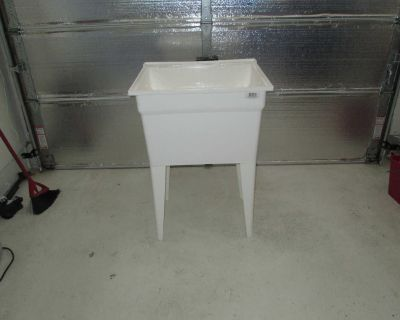 White Standard Laundry Sink