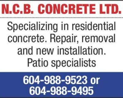 Specializing in residential concrete. Repair, removal and new installation