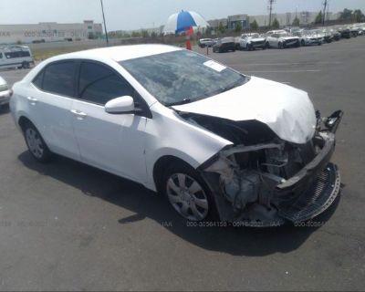 Salvage White 2014 Toyota Corolla