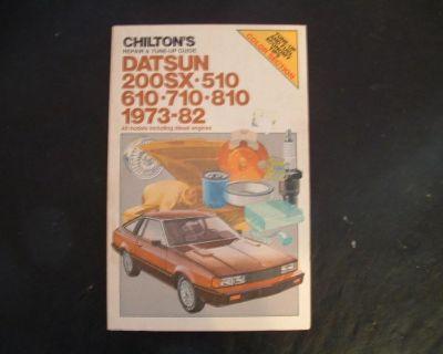 Chilton Repair Tune Up Manual Datsun 1973 1982 510 610 710 810 200sx Chiltons