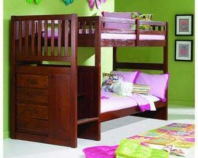 Twin size Bunk bed w/ One Twin Mattress
