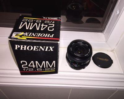 New Phoenix 24mm F2.8 Macro Lens for Minolta MD Mount SLR