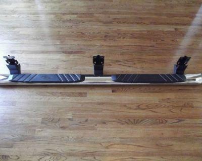"2009-2014 Ford F250 Crew Cab Step Bar Oem Running Board 5"" Chrome Oval Left Side"