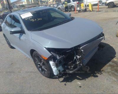 Salvage Gray 2021 Honda Civic Hatchback