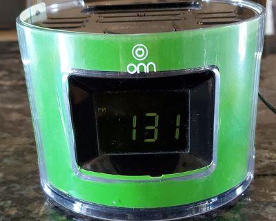 ONN Clock Radio w/iPhone port