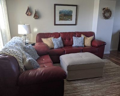 Ashley Furniture Red Couch and Loveseat