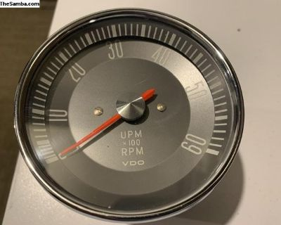 Type 3 VDO Red Needle Tachometer 6v