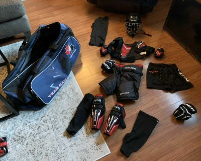 Youth hockey equipment. Never worn once