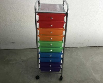 Cart with storage drawers