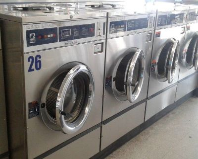 Coin Laundry Dexter T600 FrontLoad Washer 220-240v 3PH Stainless Steel WCN40ABSS Used