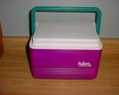 Barely Used Igloo Legend 6 Can/5 Quart Personal Insulated Cooler With Handle. Engineered To Fit Easily Behind Vehicle Seats & Under...