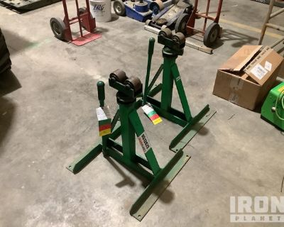 Lot of (2) Greenlee 656 Cable Reel Stand Ratchets