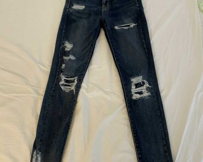 American Eagle Outfitters Ne(x)t Level Stretch distressed Super Hi-Rise Jegging, size 4
