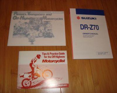 2007 Suzuki Drz 70 Owners Manual Dr-z70 99011-14h50-03a