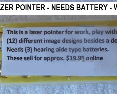Lazer Pointer To Play With Dogs/Cats