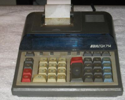Quill Desktop Adding Machine uses a ribbon and paper tape