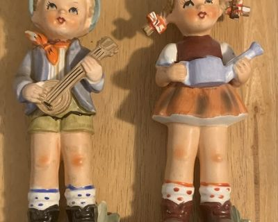 Walls Jack and Jill porcelain 12in figurines