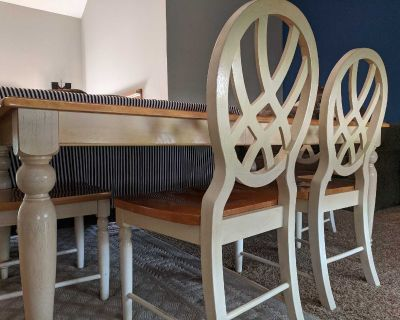 Farmhouse Dining Table - 6 Chairs