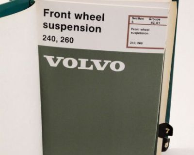 Volvo 8 Service Manuals 1975-87 240 260 Repairs Maintenance