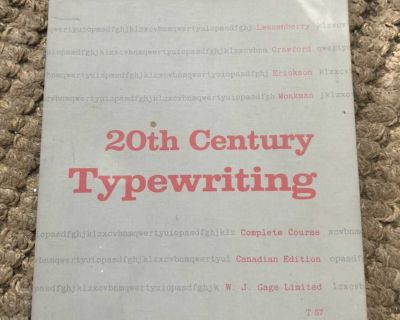 20th Century Typewriting complete course, hard cover