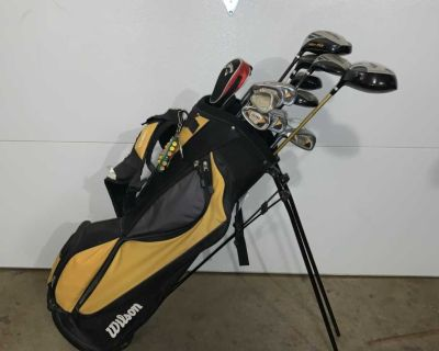 Left hand clubs Wilson Ultra and extras