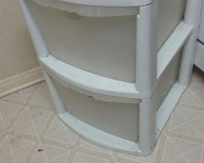 2 Drawer Plastic Shelf