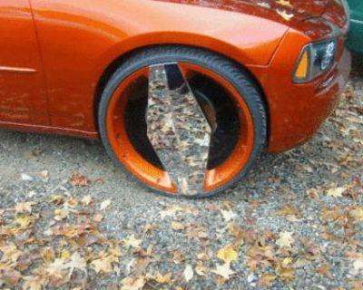 """24""""wheels Black Chrome Vision Morgana Crown Victoria"""