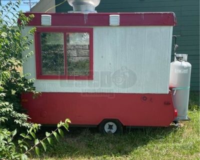 2001 Street Food Vending Concession Trailer Compact Cook Trailer