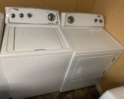 "GREAT WORKING ORDER WHIRLPOOL 27"" WASHER AND ELECTRIC DRYER (SET)"