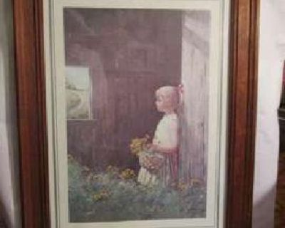 Barnyard Girl framed print