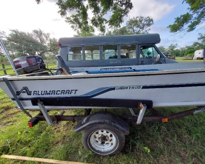 17' Alumacraft boat electric start 30hp Evinrude with trolling motor
