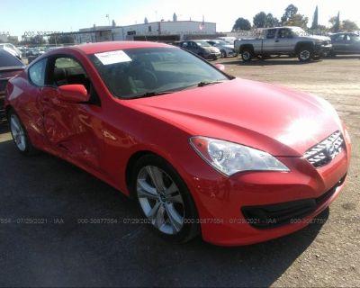 Salvage Red 2011 Hyundai Genesis Coupe