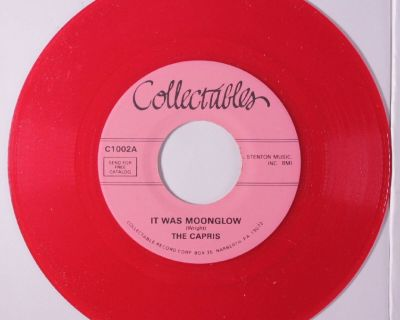 CAPRIS ~ It Was Moonglow*Mint-45*RARE RED WAX !