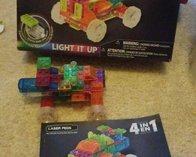 Light up Laser peg truck