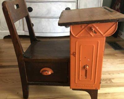 Moulthrop Langslow Fowler Antique School Desk