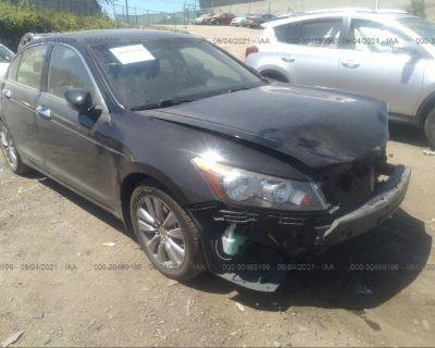 Salvage Black 2011 Honda Accord Sdn