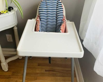 Classic ikea High chair with insert