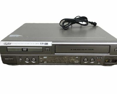 Sanyo DVW-5000 DVD Player 4 Head VHS Recorder VCR/DVD Combo Player. No Remote. Tested
