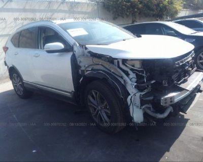 Salvage White 2021 Honda Cr-v