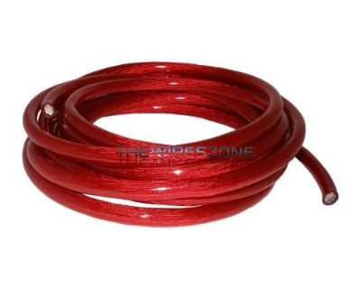 New 4 Gauge 15' Feet Wire Power Cable Red True Gauge