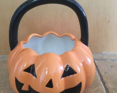 Halloween Jack O Lantern Candy Bowl - BRAND NEW