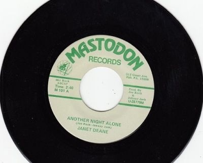 JANET DEANE & GROUP ~ Another Night Alone*Mint-45 !