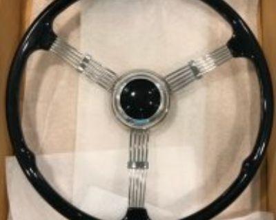 Limeworks 1935-37 Banjo Steering Wheel Black Button New