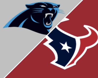 2 Texans Panthers Front row. $75 each