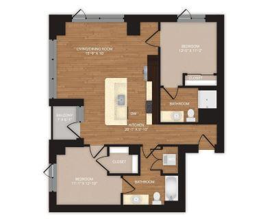 Short term lease - 2br, 2ba, $2515 / month (Union Station Denver)