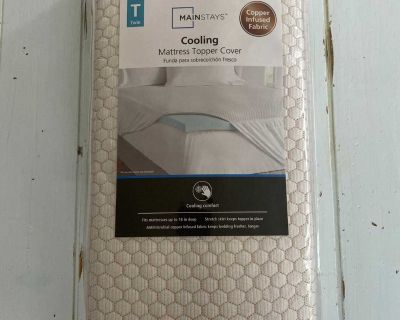 Twin cooling mattress topper COVER