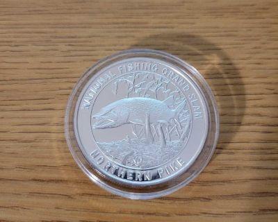 1 oz Silver Round (Northen Pike)