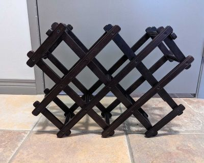 Urban Barn Collapsible Wine Rack - Chocolate Brown