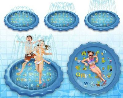 Splash Sprinkle Play Mat for Kids, Blue ( NOTE CROSSPOSTED)